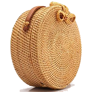 organic, handmade, recyclable and natural handwoven rattan bag for women by naturalneo