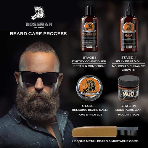 Bossman All Natural Complete Beard Kit