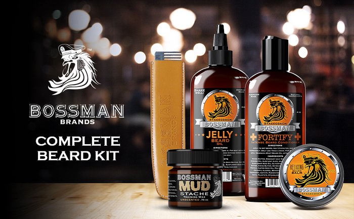Bossman All Natural Complete Beard Set Made in USA
