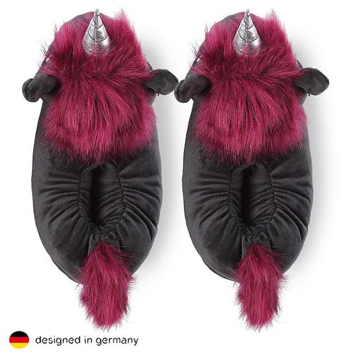 Corimori Ruby the Punk Unicorn Slippers Cute Gift for Women and Kids