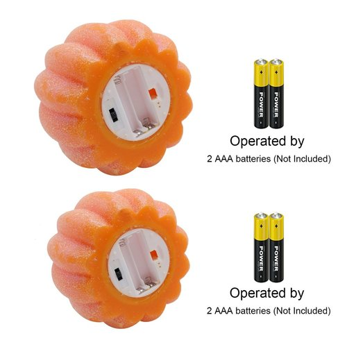 Halloween Gift DRomance Battery Operated Pumpkin Flameless Candles with Timer