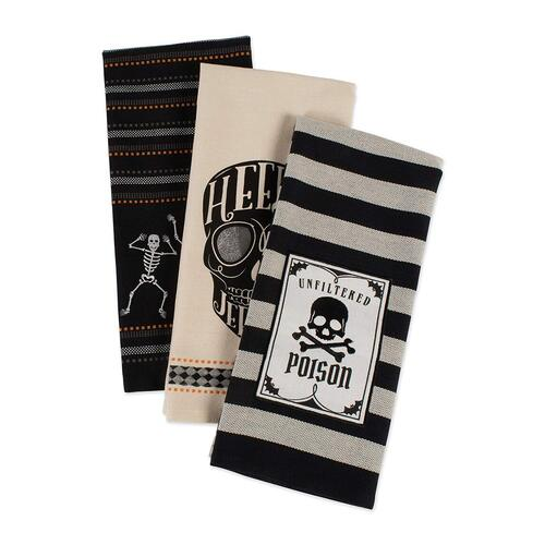 Halloween Gift Skeleton Cotton Dish Towels by DII