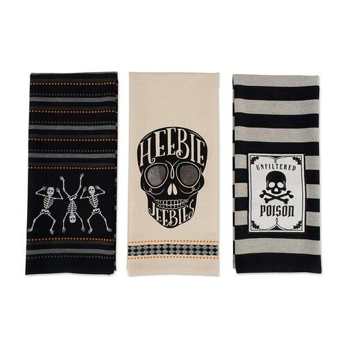 Skeleton Cotton Dish Towels by DII for Halloween Gift