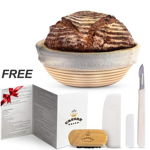 Caesar Bread Banneton Proofing Basket Made of 100% Indonesia Cane