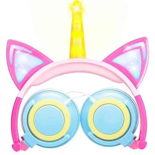 GBD Unicorn Cat Ear Headphone for Kids