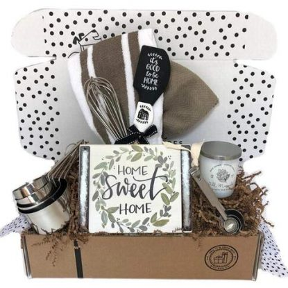 hey, it's your day gift box co housewarming present with 9 carefully curated items in gift box