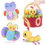 tumama basket of plush baby toys