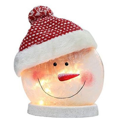 BOSQUEEN Lighted Snowman Hat Lamp Xmas Gift