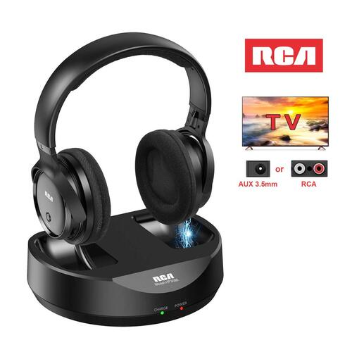 RCA Wireless Over Ear TV Headphones with 148ft Range