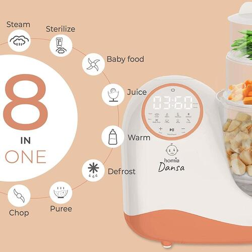 Dansa 8 in 1 Multifunctional Smart Baby Food Processor by homia