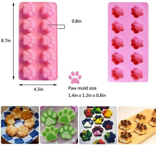 Eke 9 piece Stainless Steel and Silicone Dog Treat Molds and Cookie Cutters