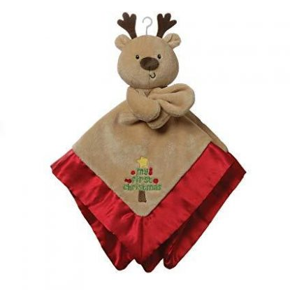 GUND My First Christmas reindeer 12 inches lovey holiday plush security baby blanket