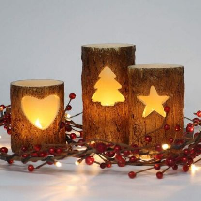 Great Christmas Decor 3 pcs Flameless Xmas LED Candles with 6 Hrs Timer Function by Rhytsing