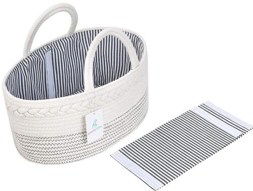 Luxury Little Woven Rope Diaper Caddy