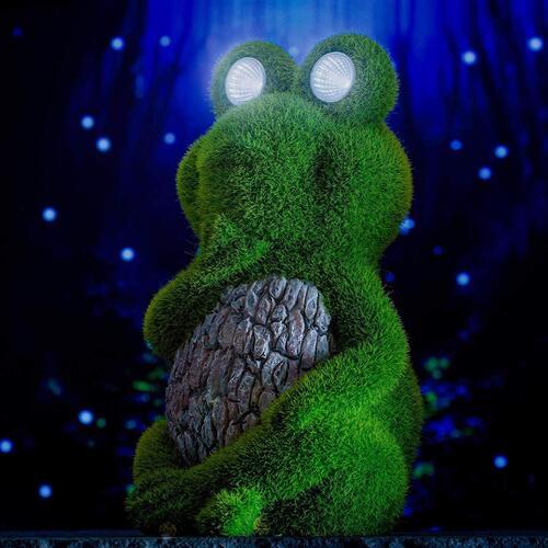 Shefio frog yard décor outdoor statues for garden or balcony