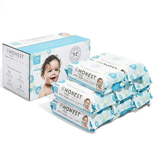 The Honest Company Hypoallergenic Dermatologist Tested Baby Wipes 576 Count