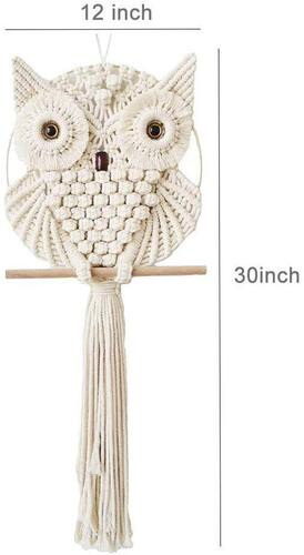 Achart Macrame Owl Wall Hanging includes 2 hook