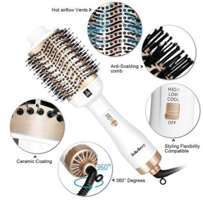 Aokebeey One Step 5-in-1 Hot air brush with 3 heat level