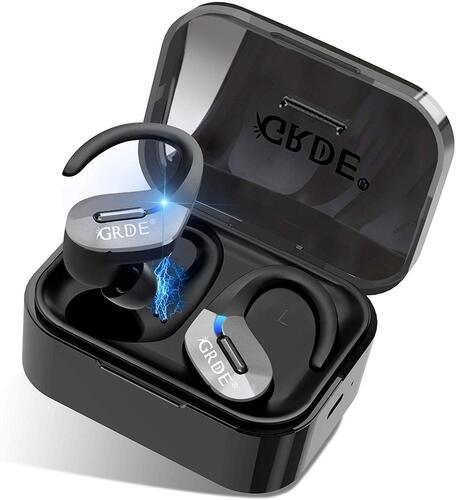 GRDE True Wireless Earbuds IPX5 Sweatproof Sports Earphones