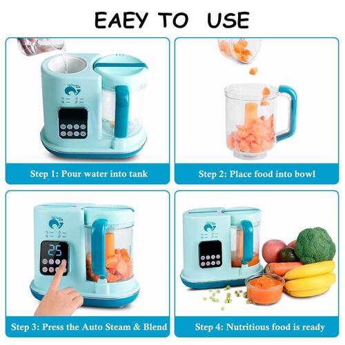 Whale's Love BPA free multifunctional electric baby food maker