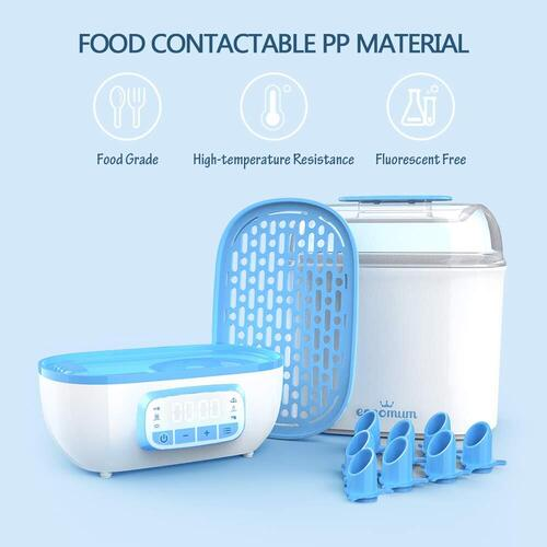 Eccomum HEPA Filter Baby Bottle Sterilizer and Dryer with LED Screen
