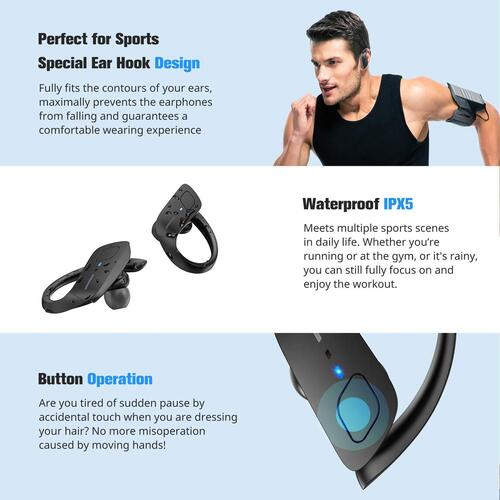 HolyHigh ET1 Sports Bluetooth Earbuds