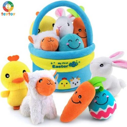 TEYTOY My First Easter 6 piece Soft Plush Cotton Baby Toys