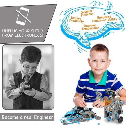 12 in 1 stem diy educational solar robot kit for kids by cirotoys