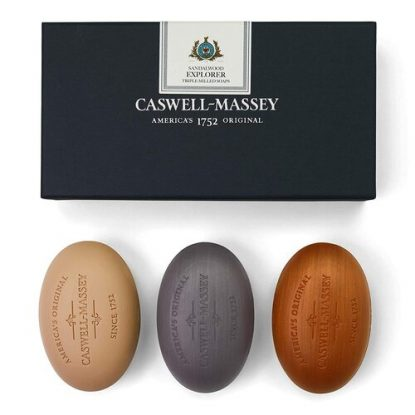 Caswell-Massey Sandalwood Explorer Triple-Milled 3 pcs Soaps Set Made in USA