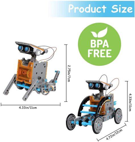 Ciro BPA free 12 in 1 stem diy educational solar robot kit gift for kids 8+ year old