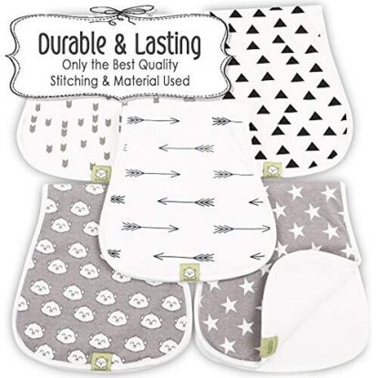 KeaBabies 5-Pack Burp Cloths Set
