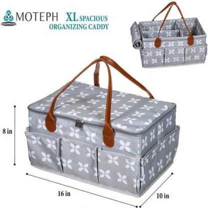 Moteph baby diapers caddy bag organizer