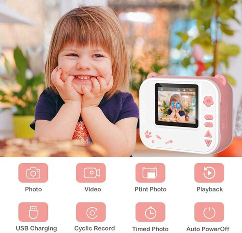 dragon touch instantfun kids camera with built-in selfie mirror