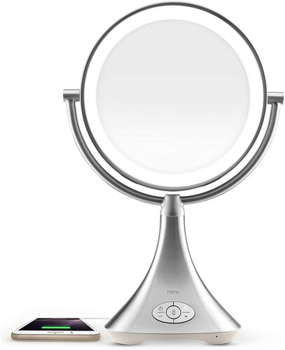 iHome 9 inch double sided makeup mirror