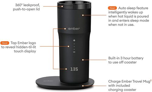 Ember Temperature-Control Coffee Mug with Auto Sleep Feature