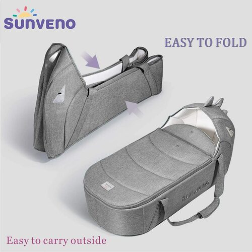 SUNVENO Portable, Foldable and Waterproof Baby Travel Crib