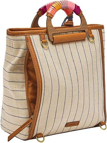 Fossil Camilla Leather Convertible Backpack Handbag