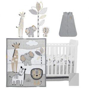Lambs & Ivy six-piece baby crib bedding set