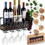Anna Stay Wine Lovers Gift Idea Metal Wall Mounted Wine Rack Bottle Holder