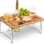 Tirrinia Outdoor Bamboo Wine Picnic Serving Tray