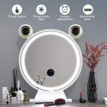 RinKmo Unique Makeup Mirror with Bluetooth Speakers and Removable base