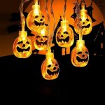 Toodour Waterproof Halloween pumpkin string lights