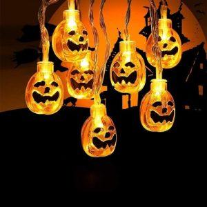 Toodour Waterproof Halloween pumpkin string lights