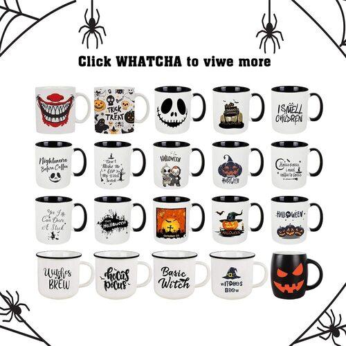 WHATCHA Ceramic Halloween Coffee and Tea Mug