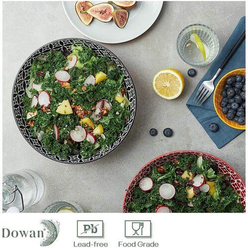 Dowan 2 pcs Large Ceramic Serving Bowls