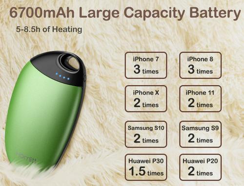HOMITT Hand Pocket Warmer with 6700mAh battery