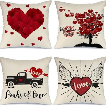 valentines day pillow cover