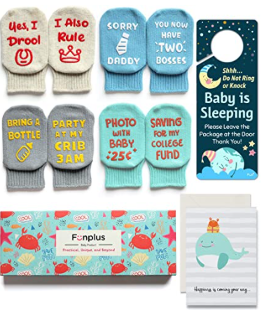 FunPlus 4 pairs of unique baby socks
