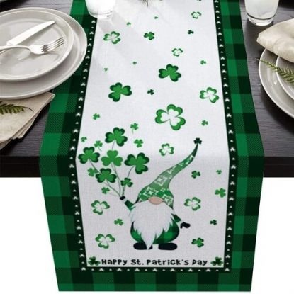 Prime Leader St. Patrick's Day Decorative Cotton-Polyester Table Runner