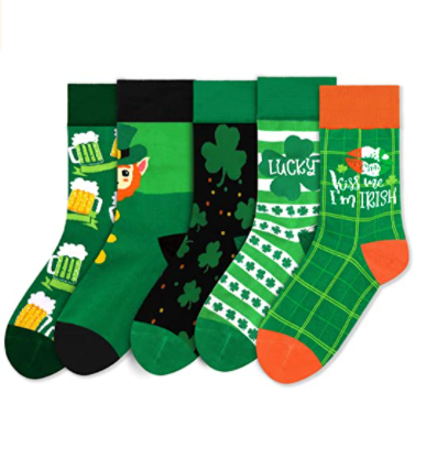 St. Patrick's Day Socks by Vansolinne